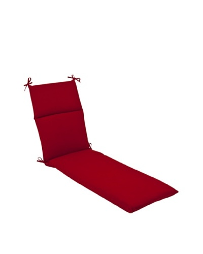 Pillow Perfect Outdoor Pompeii Solid Chaise Lounge Cushion, Red
