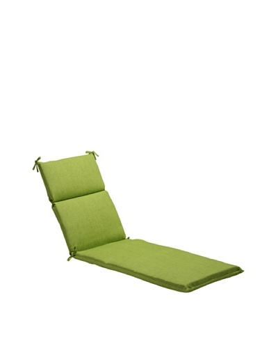 Pillow Perfect Outdoor Baja Textured Solid Chaise Lounge Cushion, Lime Green