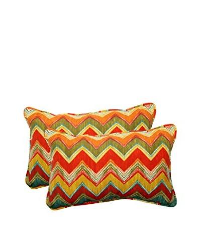 Set of 2 Tamarama Multi-Color Indoor/Outdoor Rectangular Throw Pillows