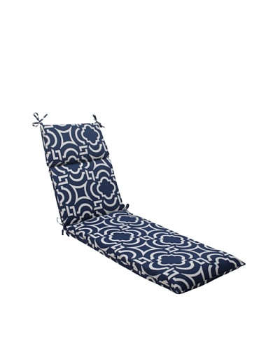 Pillow Perfect Outdoor Carmody Chaise Lounge Cushion, Navy