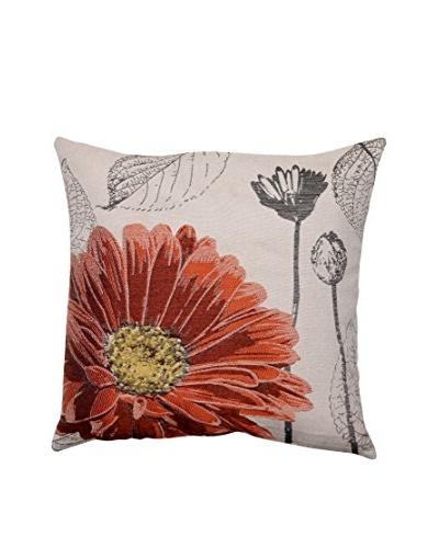 Orange Chrysanthemum Throw Pillow