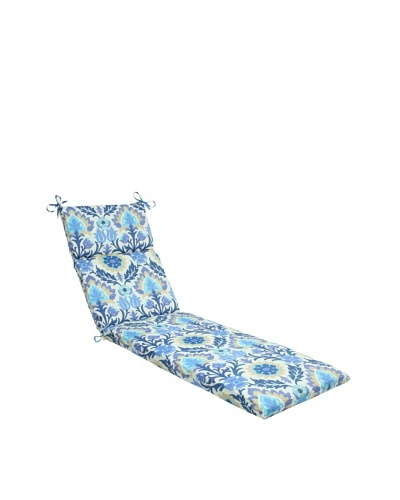 Pillow Perfect Outdoor Santa Maria Chaise Lounge Cushion, Azure