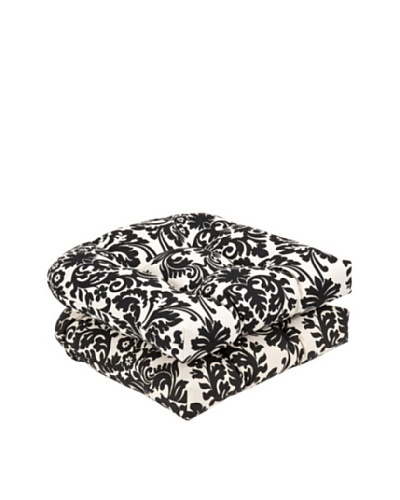 Pillow Perfect Set of 2 Outdoor Essence Wicker Seat Cushions