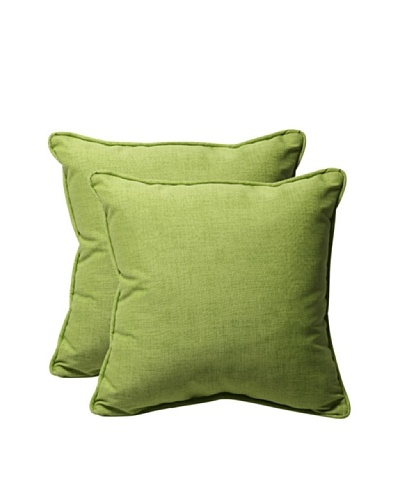 Pillow Perfect Set of 2 Outdoor Baja Throw Pillows, Lime Green