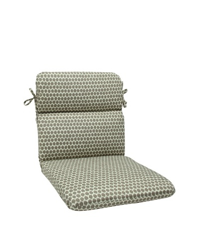 Pillow Perfect Outdoor Seeing Spots Rounded Corner Chair Cushion, Brown