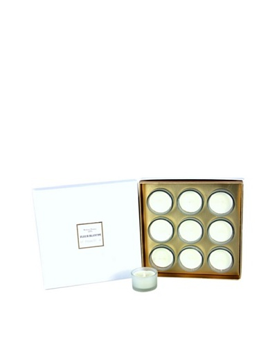 Plain & Simple Set of 9 Perfumed Votives, Fleur Blanche, .8-Oz.
