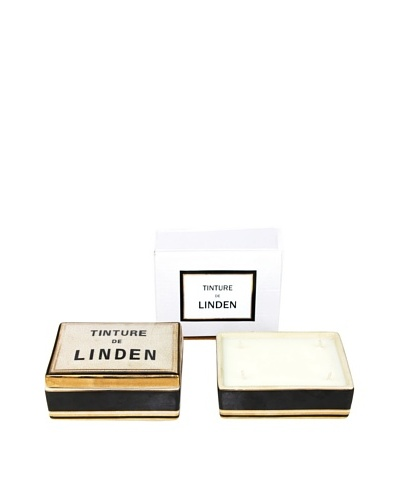 Plain & Simple Vintage-Style Ceramic Candle Box, Linden, 6-Oz.