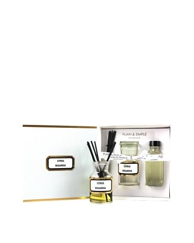 Plain & Simple Vintage Clear Glass Orange Blossom Perfumed Diffuser Set