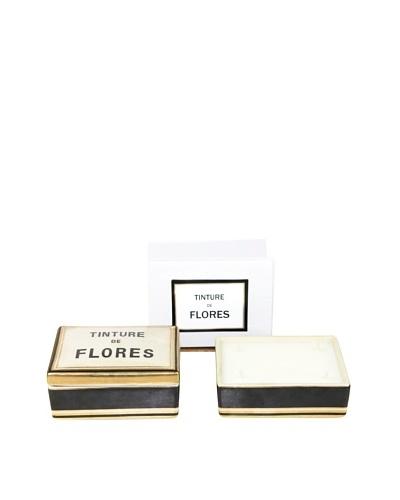 Plain & Simple Vintage-Style Ceramic Candle Box, Flores, 6-Oz.
