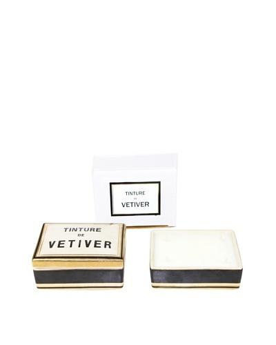 Plain & Simple Vintage-Style Ceramic Candle Box, Vetiver, 6-Oz.