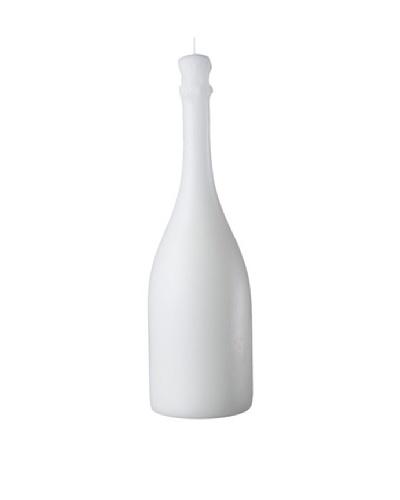 Point a la Ligne Wine Bottle Candle, White