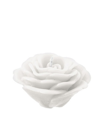 Point a la Ligne Floating Rose Candle, White