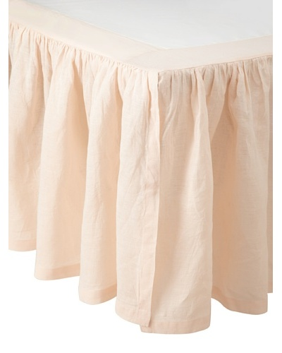 Pom Pom at Home Linen Gathered Crib Bedskirt, Pink, 18