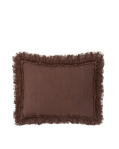 "Pom Pom at Home Mathilde Boudoir Sham, Chocolate, 12"" x 16"""