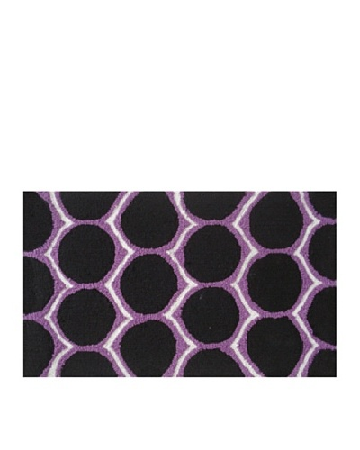 Pop Accents Dotted Rug [Black/White/Purple]