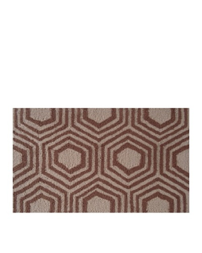 Pop Accents Octagon Rug [Brown]