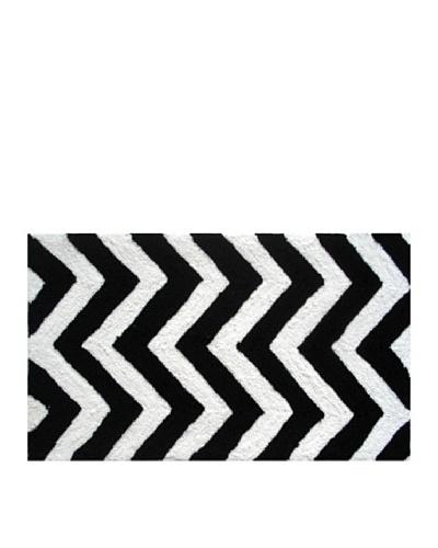 Pop Accents Chevron Rug [Black/White]