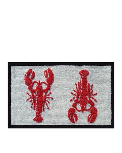 Pop Accents Lobster Rug [Red/White/Black]