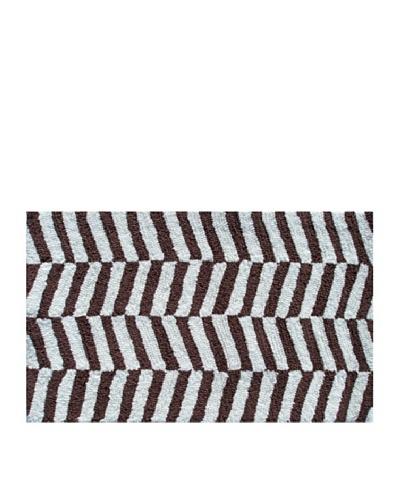 Pop Accents Ladder Rug [Brown/White]