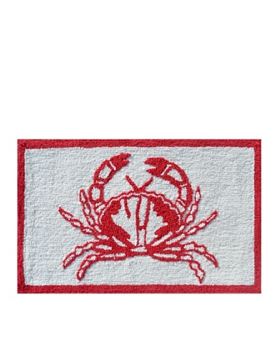 Pop Accents Crab Rug [Red/White]