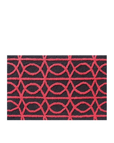 Pop Accents Symmetric Rug [Red/Black]