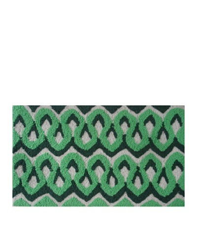 Pop Accents Squiggles Rug [Green/Dark Green]
