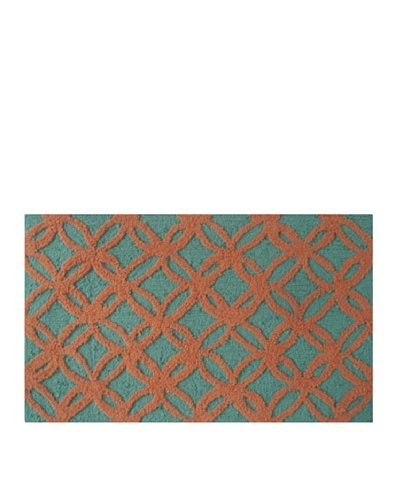 Pop Accents Sparkles Rug [Aqua/Orange]