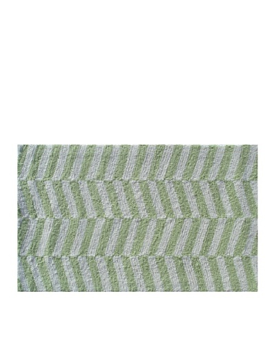 Pop Accents Ladder Rug [Green/White]