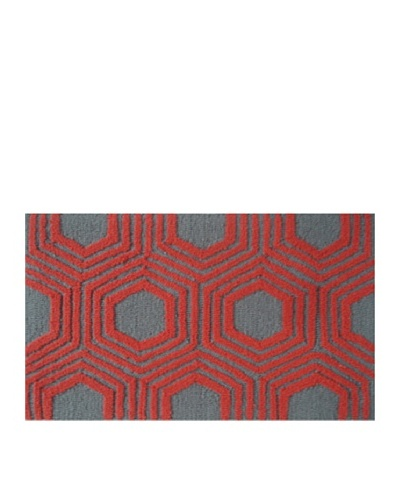 Pop Accents Octagon Rug [Red/Grey]