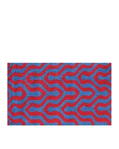 Pop Accents Jagged Rug [Red/Blue]