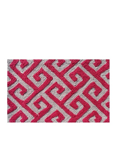 Pop Accents Greek Rug [Grey/Pink]