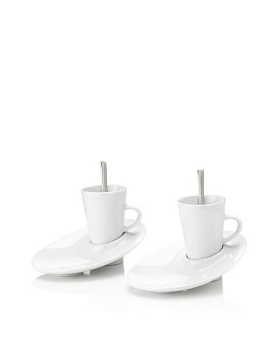 Pordamsa Set of 2 Angled Espresso Cup & Saucers