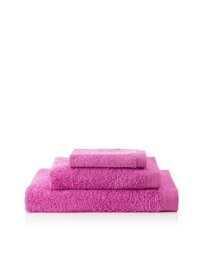 Portugal Home 3 Piece Towel Set, Dark Fuchsia