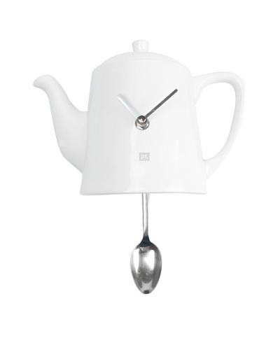 Present Time Quali-Tea Time Spoon Pendulum Resin Wall Clock