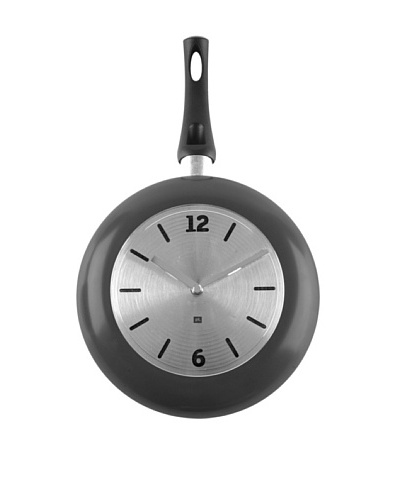Present Time Wok Time Metal Wall Clock, Black
