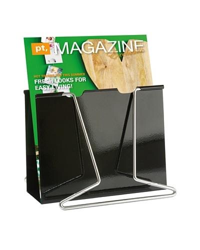 Present Time Giant Clip Magazine Rack, Black