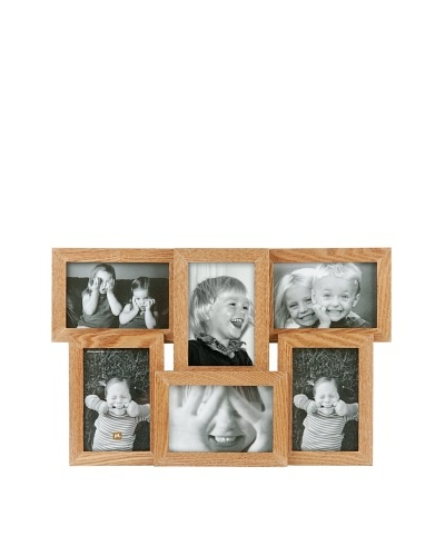 Present Time 6-Photo Collection Frame, Brown