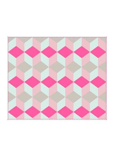 Present Time Block Fleece Throw Blanket