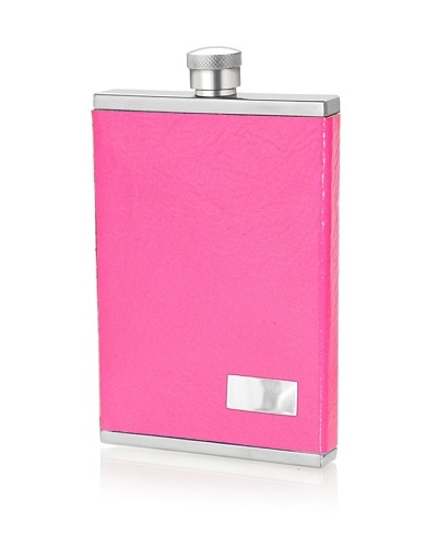 Wilouby 3-Oz. Slimline Collection Stainless Steel Flask, Neon Pink