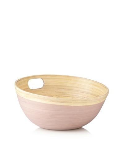 Ecorce d'Orange Hand-Painted Bamboo Salad Bowl