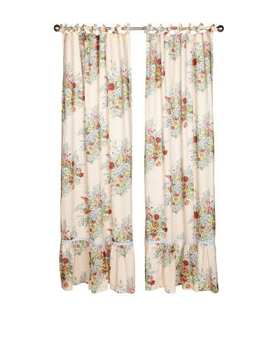 lazybones Set of 2 Eden Tab-Top Curtain Panels
