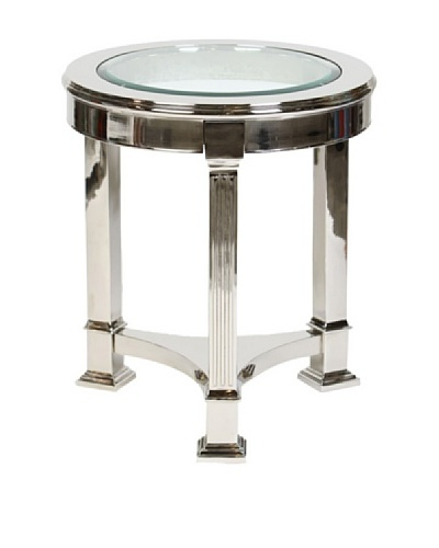 Prima Design Source 3 Legged Accent Table, Nickel