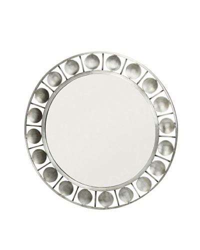 Prima Design Source Nickel-Plated Circles Mirror, Silver