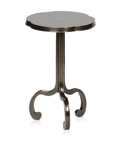 Prima Design Source 3 Legged Clover Table, Brass