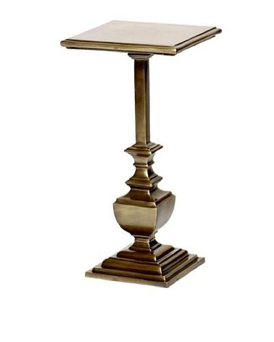 Prima Design Source Square Antiqued Brass Accent Table, Brass