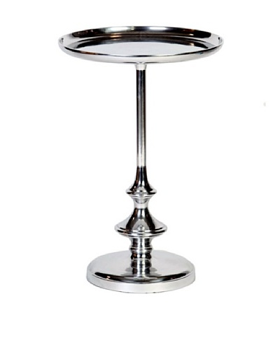 Prima Design Source Slender Cast Aluminum Recessed-Top Table, Nickel