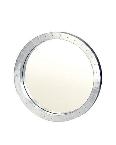 Prima Design Source Aviation-Inspired Metal Mirror, Silver