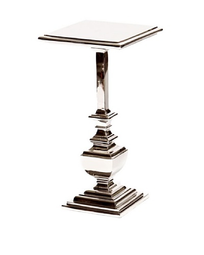 Prima Design Source Square Polished Nickel Accent Table, Nickel