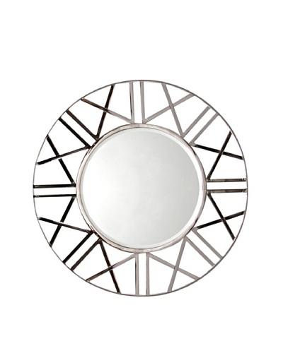 Prima Design Source Zigzag Round Mirror, Silver