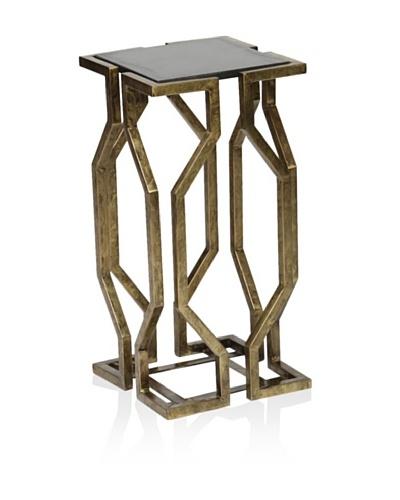 Prima Design Source Open Geometric Form Accent Table, Brass